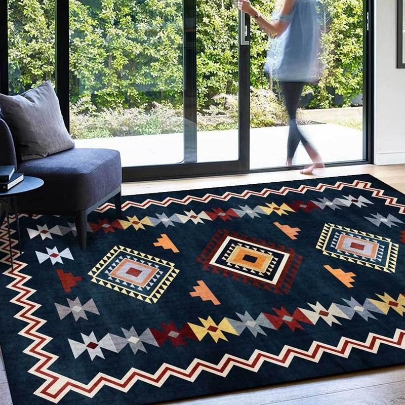 سجادة فارسية عصرية ، أزرق داكن ، هندسية ، لغرفة المعيشة ، أريكة طاولة ، غير قابلة للانزلاق ، أرضية ، المدخل ، المطبخ