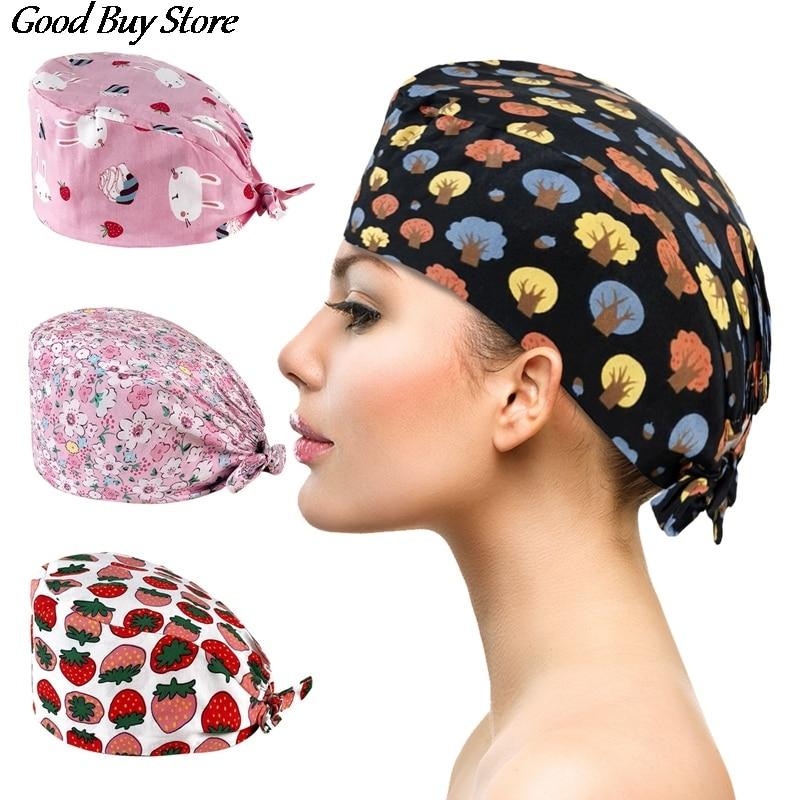 Pet Shop Working Hats Doctor Nurse Head Turban Wrap Health Services Headwrap Unisex Sweatband Beauty