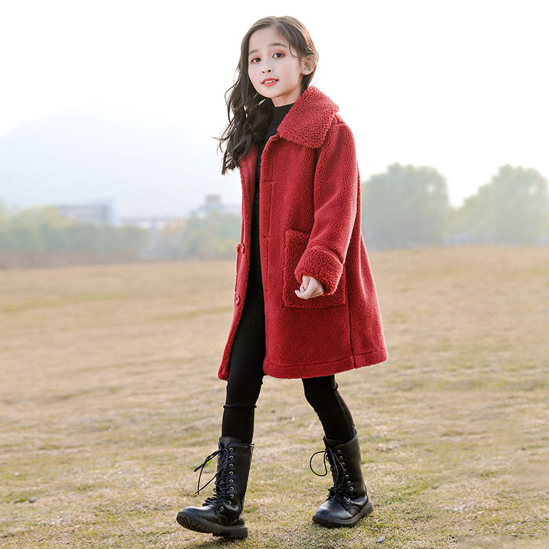 2020 New Autumn Winter Children Clothing Faux Fur Coat Kids Baby Girl Casual Thicker Warm Sheep Fur Wool Jackets Outerwear W639 enlarge