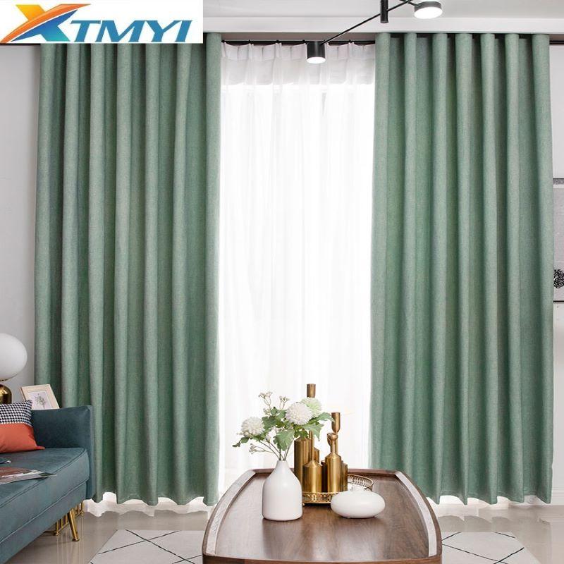 XTMYI سميكة تعتيم النوافذ الستائر أعمى لغرفة المعيشة منقوشة جاهزة ليلة نوم الستائر ل ستائر المنزل الستائر