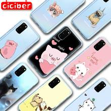 Mignon chat rose cochon souple coque de téléphone pour Samsung Galaxy S10 S9 S8 Plus S10e S20 Plus Ultra A50 A51 A71 A70 A20 A60 A10 A80 Capa