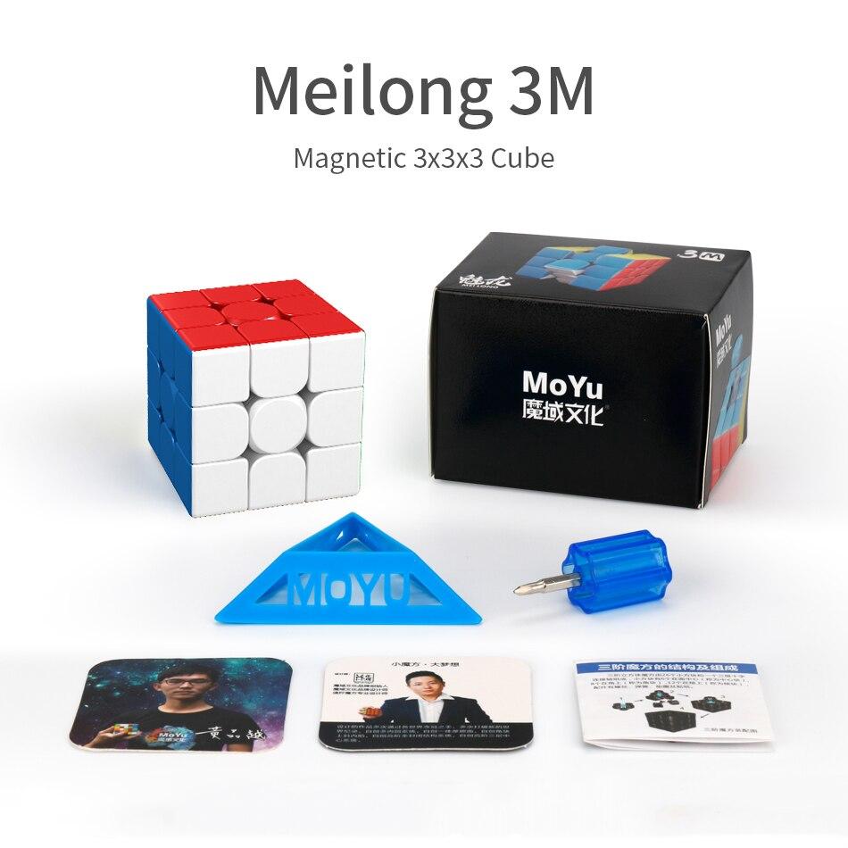 Mais novo 2020 moyu cubing sala de aula meilong 3 m magnético 3x3x3 cubo mágico meilong 3 m magico cubo velocidade quebra-cabeça brinquedos para crianças