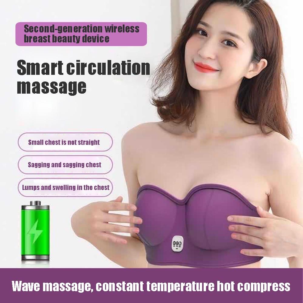 Bra Vibration Chest Massager USB Electric Heating Stimulator Machine Growth Enlargement Enhancer Breast