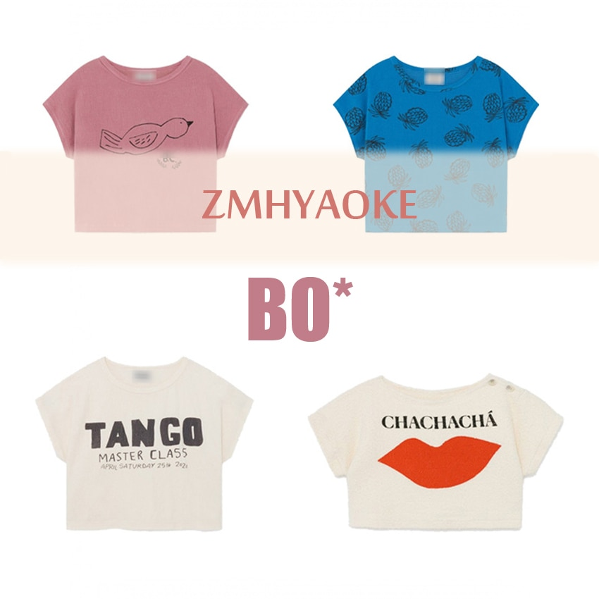 ZMHYAOKE-Bobo Ch* 2020 Summer Baby Girls Christmas Clothing Fashion Beach T-shirt for Kids Boys Thanksgiving Shirt Girls Tops