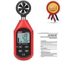 uni t ut363bt mini handheld anemometer with bluetooth digital wind anemometers true rms speed measurement temperature tester