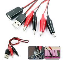 Alligator Test Clips Clamp Zu USB Tester Detektor Spannung Meter Amperemeter Kapazität Power Meter Monitor Reinem Kupfer Holding Draht