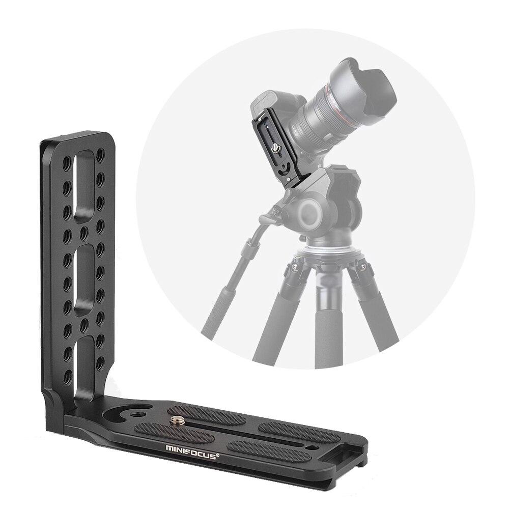 Minifocus l forma suporte qr placa vertical vídeo tiro arca swiss para dji osmo ronin zhiyun para canon nikon sony dslr camer