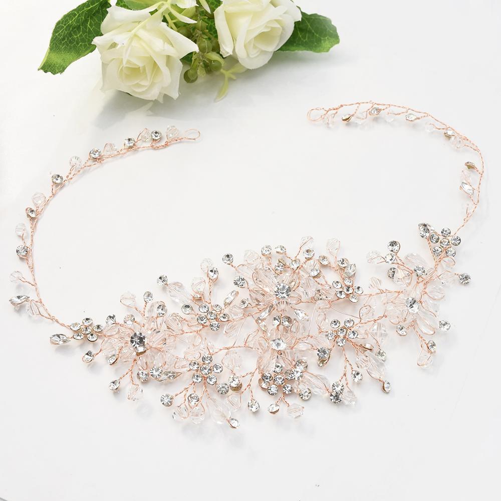 Diadema de joyas para el cabello para novia, tiara con diamantes de...