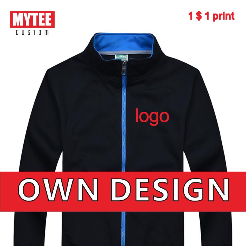 MYTEE Осенняя Высококачественная куртка на молнии с воротником-стойкой с логотипом компании вышивка/печать пальто на заказ оптовая продажа