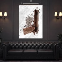 fashion luxury gun pictures on canvas wall art sexy lip poster and prints mural painting for home living room