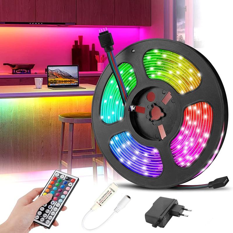 strisce-luminose-a-led-bar-bluetooth-infrarossi-44-chiave-rgb-5050-fita-164-984-pollici-tv-computer-camera-da-letto-sfondo-decorazione-natalizia