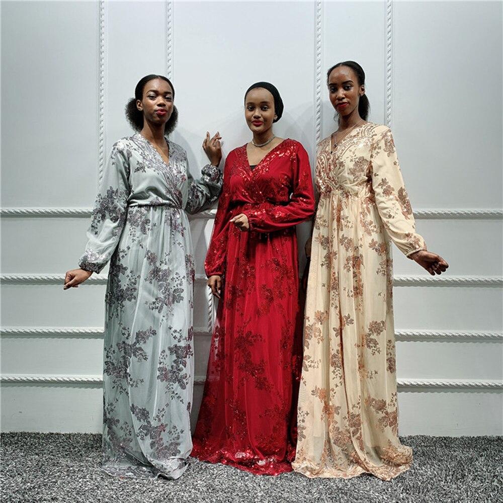 فستان أفريقي للنساء المسلمات ، قفطان ، عباية دبي ، حجاب ، لباس إسلامي