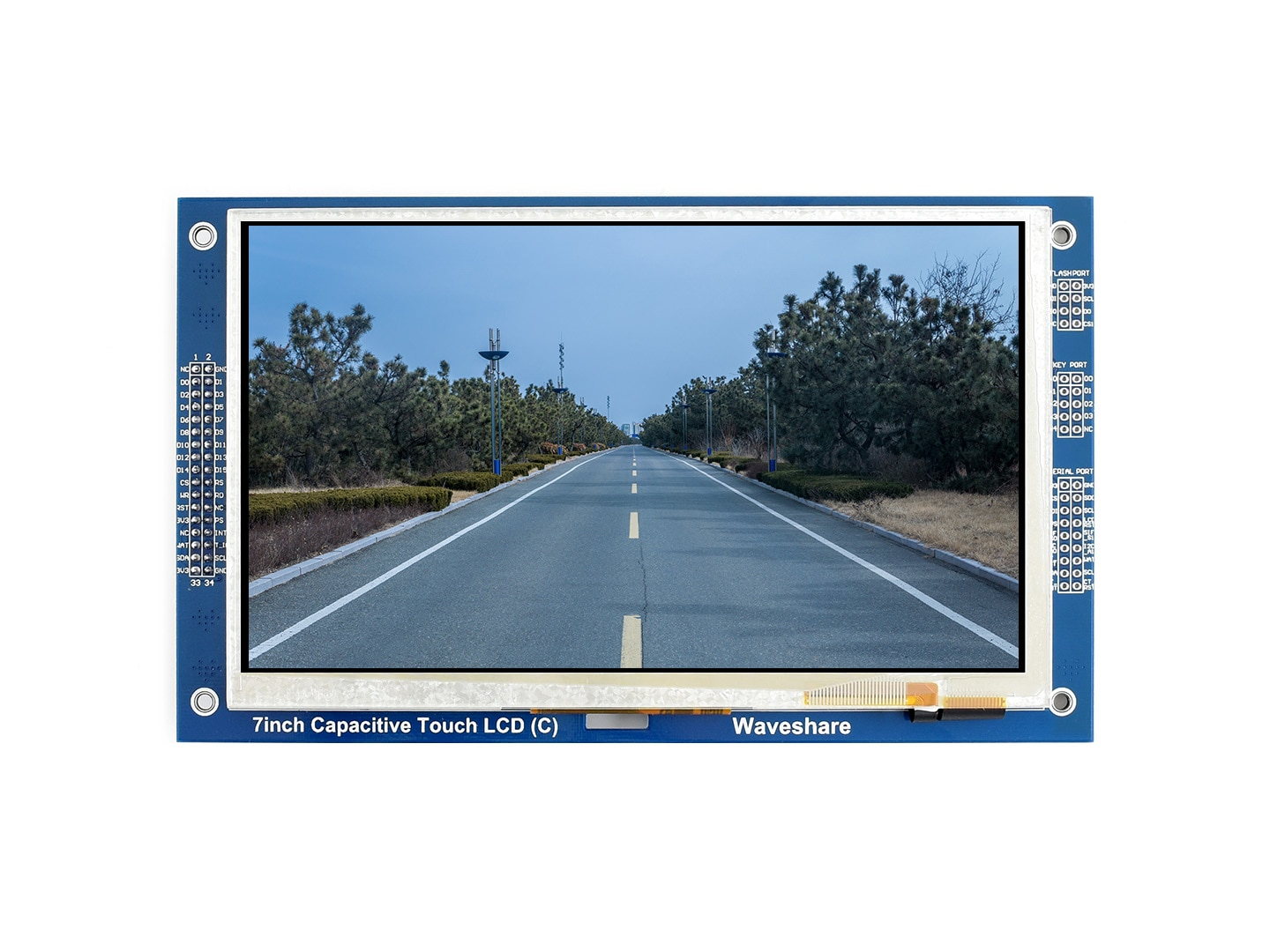 Waveshare 7 Inch 800*480 Multicolor Graphic LCD (C) With Capacitive Touch Screen GT911 TOUCH CONTROLLER TFT Display