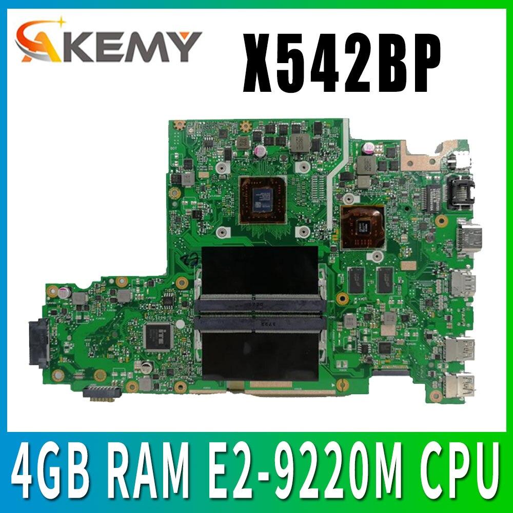 X542BP اللوحة الأم لأجهزة الكمبيوتر المحمول For Asus X542B X542BP A580B k580 b اللوحة الرئيسية 100% اختبار 4GB RAM E2-9220M وحدة المعالجة المركزية