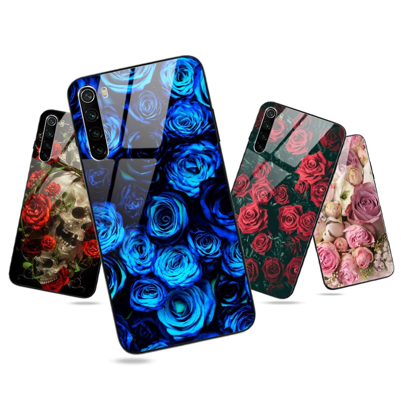 Flower Rose Silicone Case FOR Xiaomi Redmi Note 8 PRO 8T 9S 9 9A 8A 9C 7A 7 5 Plus 5A Mi Note 10 Lit