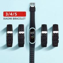 Cinturino sportivo in Silicone Smartwatch per Xiaomi Mi band 6 5 4 3 cinturino miband 5 cinturino di ricambio per cinturino su cinturino da polso Mi band 4