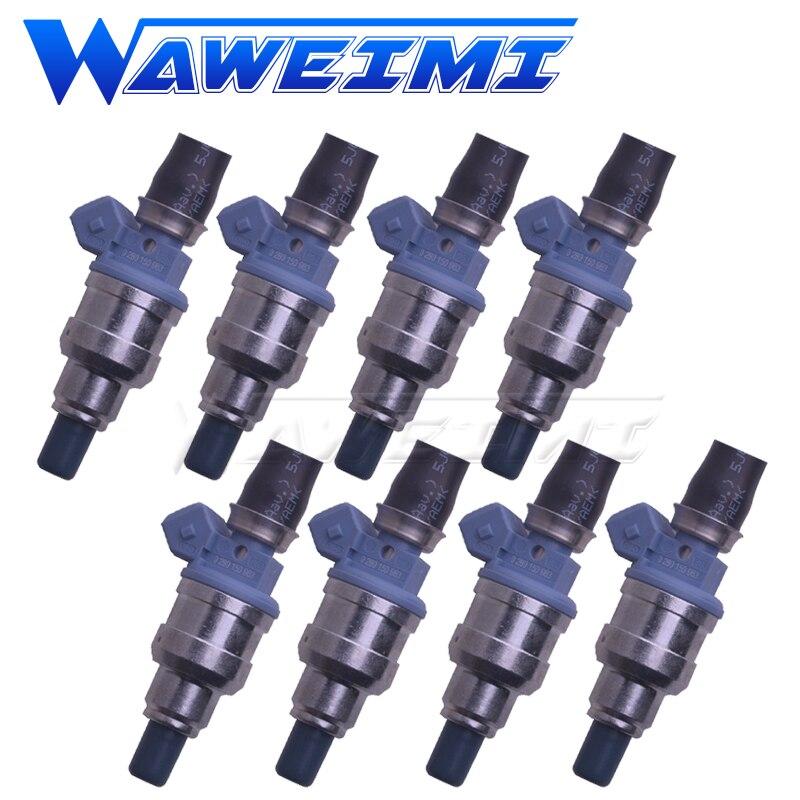 Waweimi marca nova 8x injector de combustível 0280150963 se encaixa volks wagen santana 2000 gol g t i 2.0l 0 280 150 963 cauda porco