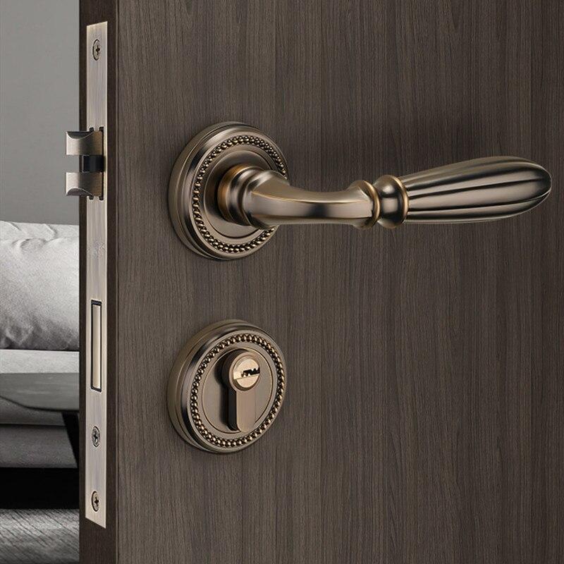سبائك الزنك داخلي سبليت قفل باب غرفة نوم كتم باب أمان مقبض قفل المنزل عالية الجودة العالمي Lockset الأثاث الأجهزة