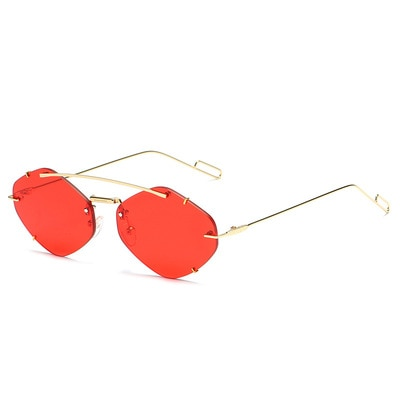 Fashion Frameless Sunglasses For Men And Women Diamond Sunglasses Outdoor Driving Couples Personalit