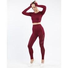 Kobiet 2 sztuk strój sportowy na co dzień oddychające bez szwu jednolity kolor Fitness strój do jogi