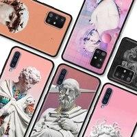 michelangelo art statue phone case for samsung galaxy a51 a21s a12 a71 a31 a52 a32 5g 4g a02s a72 a41 a11 a51 a42 a7 a9 back bag