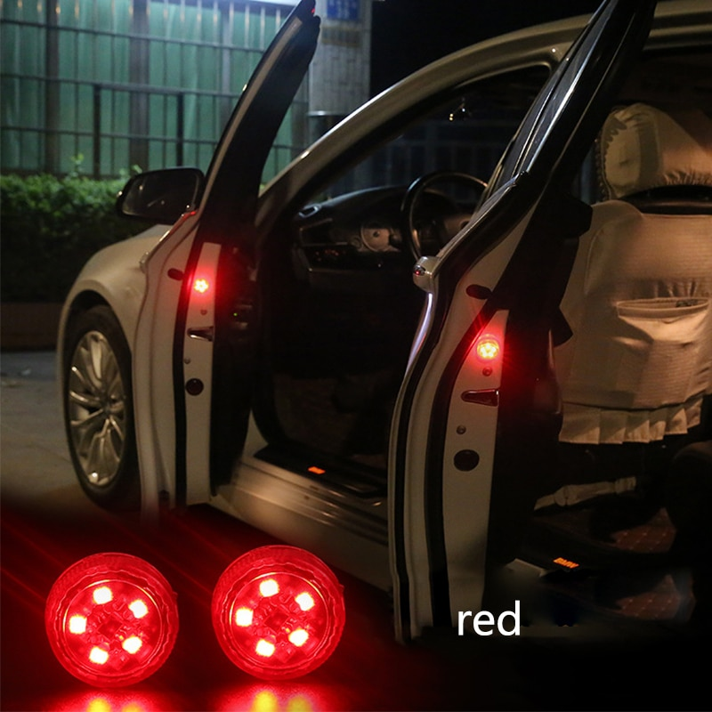 2 unid/set Universal puerta del coche LED de advertencia de apertura luz para audi a4 megane 3 tucson renault clio 2 alfa romeo 159 audi megane 2