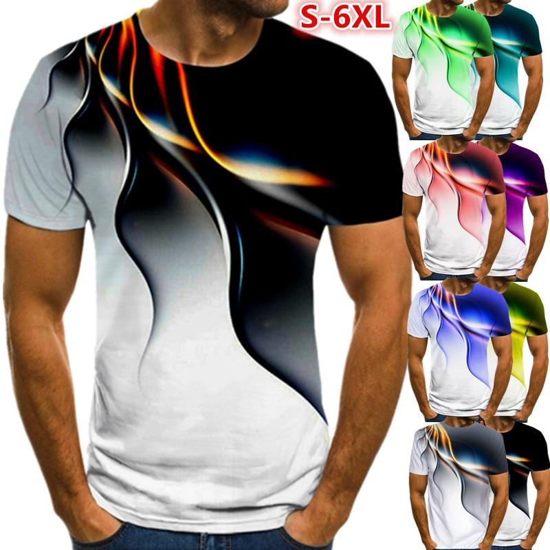 Men 3D Printed T-Shirt Personality Lightning T Shirt Short Sleeve Casual T Shirt 2021 New Summer Fashion T-Shirt funny personality t shirt new karate kick shotokan cotton short sleeve t shirt shotokan t shirt men
