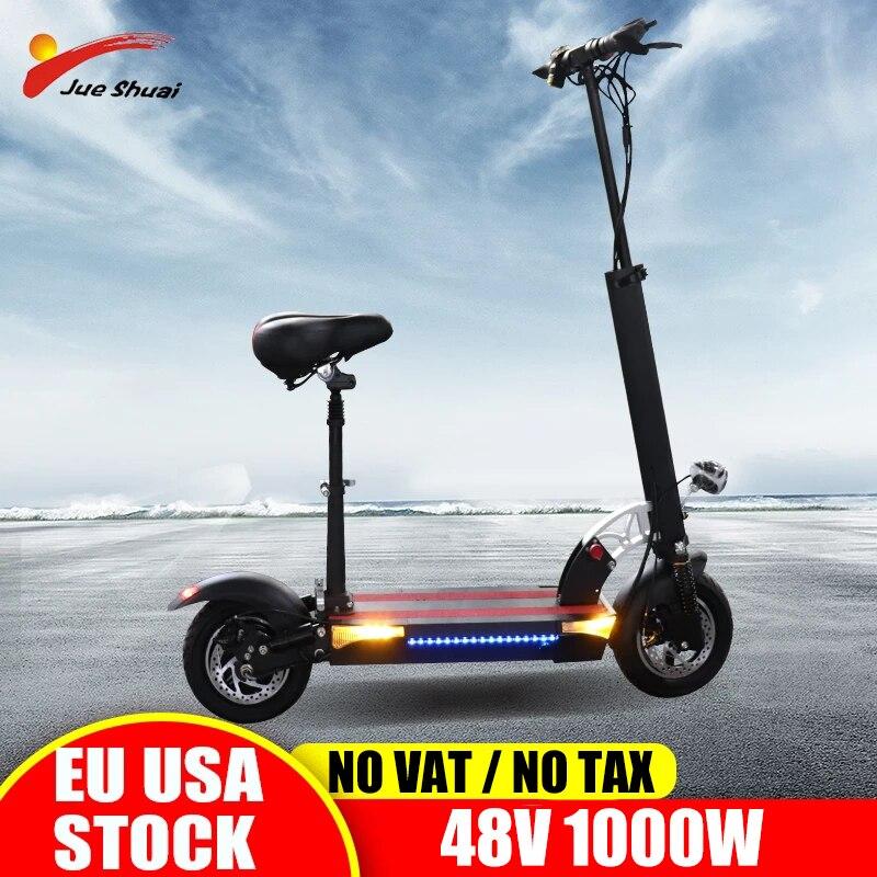 Jueshuai Scooter Eléctrico adultos 48V800W самокат plegable E batería de scooter ASIENTO...