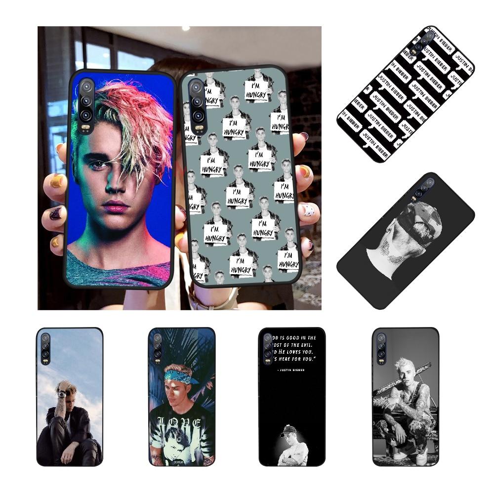 NBDRUICAI cambia Justin Bieber TPU carcasa negra del teléfono para Huawei Honor 20 10 9 8 8x 8c 9x 7c 7a Lite view