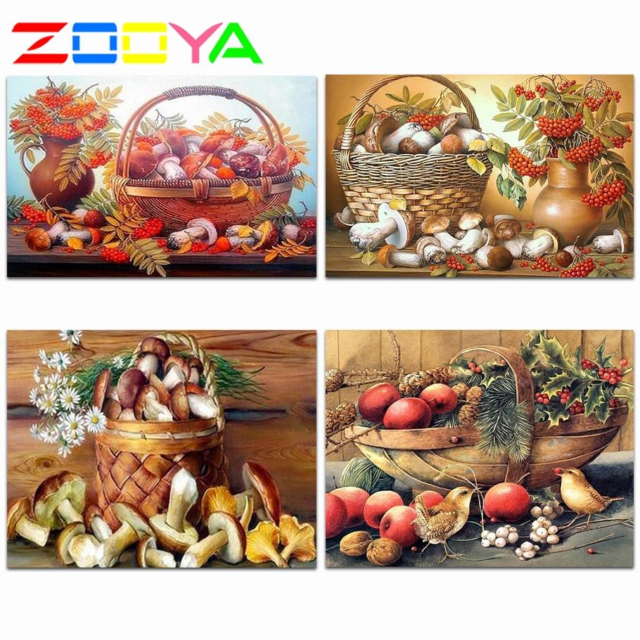 3D fruta bordada con diamante pinturas de diamantes verduras recién llegadas mosaico de diamantes foto frutas seta Decortion Er047