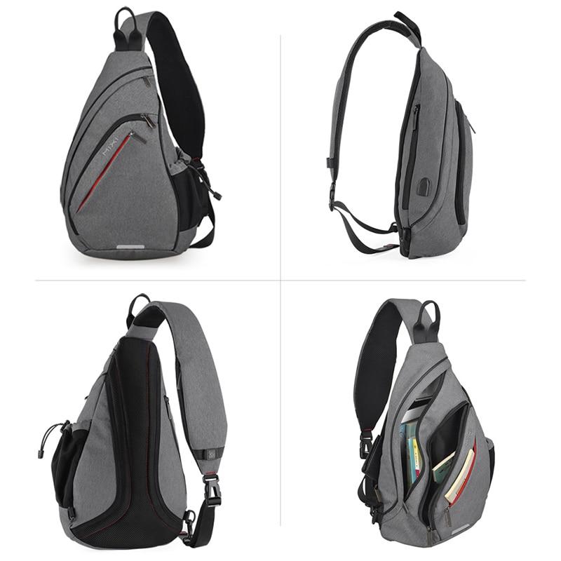 Nahrbtnik z enim ramenom z USB-jem, ženska torba za sling, - Nahrbtniki - Fotografija 2