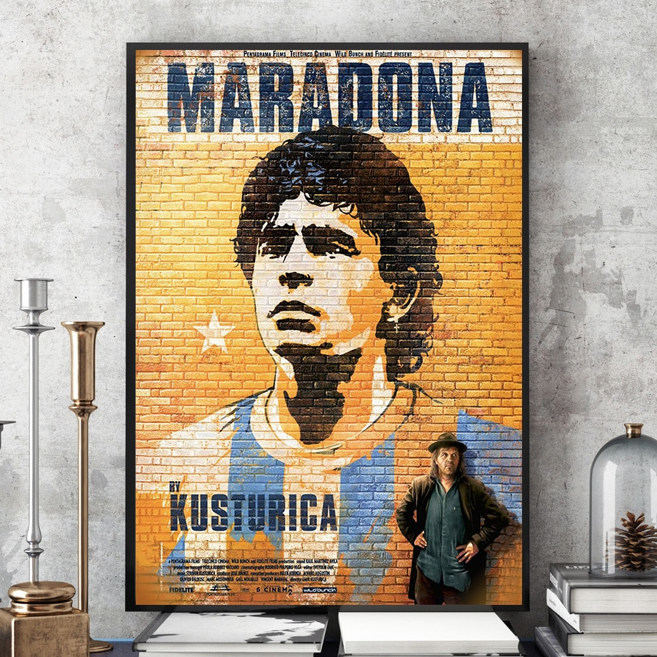 Commemorate 1986 World Cup Ball king Maradona New Custom Star Canvas Poster Photo Portrait Pictures Bar Cafe Wall Art Home Decor
