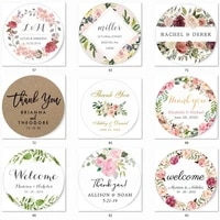 100pcs custom stickerswedding stickers printed logo transparent clear adhesive round label gift tags party decorations paper