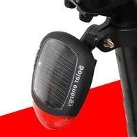 bicycle solar tail light night riding warning mountain bike waterproof environmental equipment