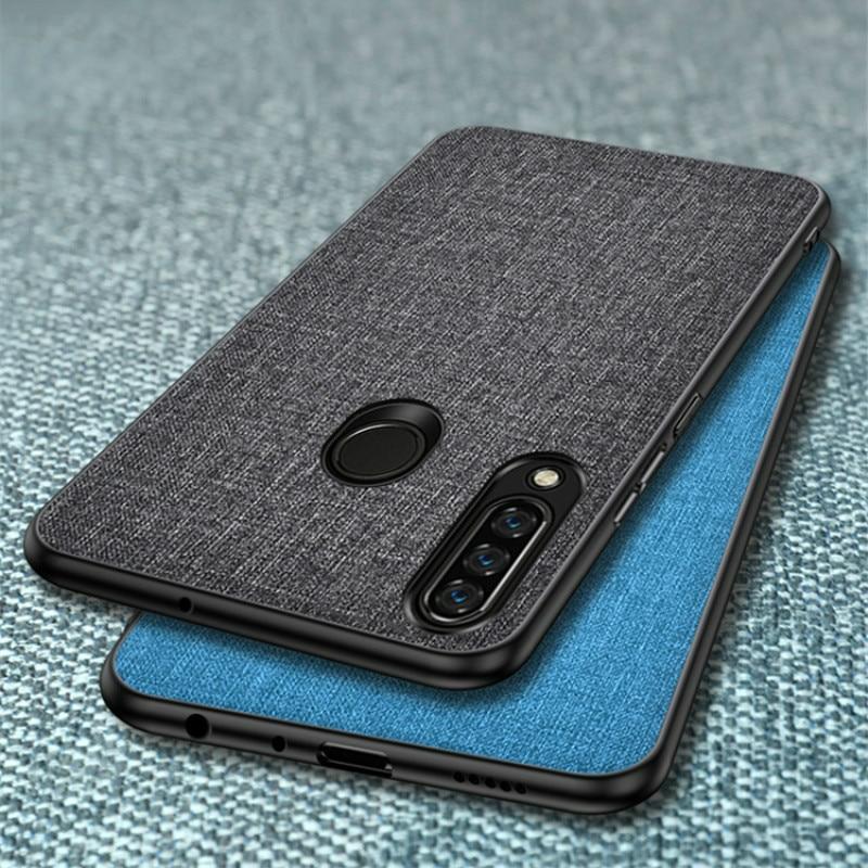 Funda para Huawei Y6P Y5P Y7P Y8P, funda rígida de tela para PC, funda protectora trasera dura con marco de silicona para Huawei Y5P Y6P