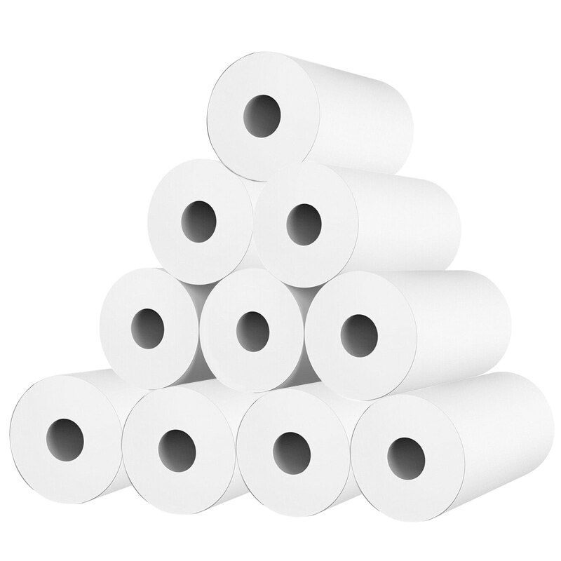 10 Rolls White Kid Camera Wood Pulp Thermal Paper Instant Print Replacement Part