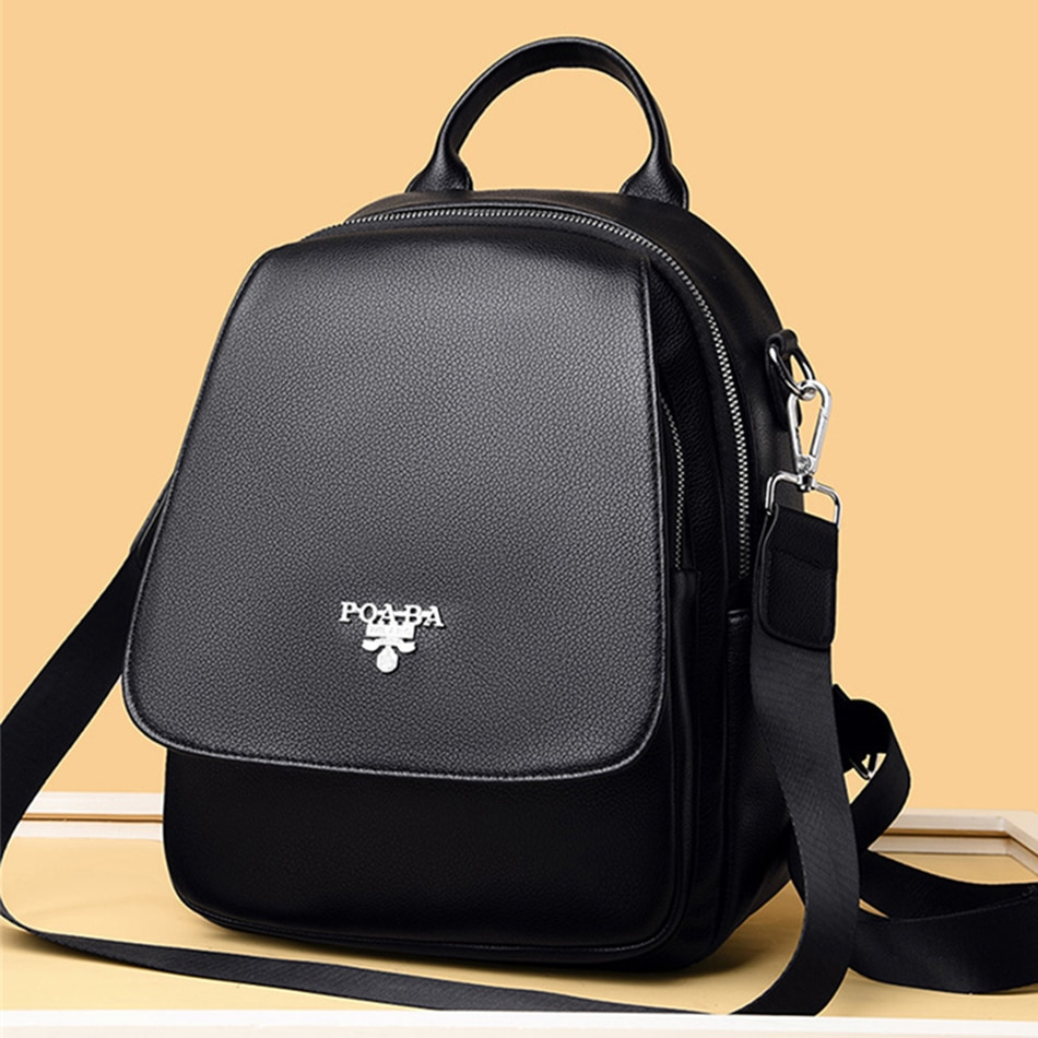 Luxury Brand Sac Female Backpack Shoulder Bag Women PU Leather Backpacks Travel Bags Mochila Fashion