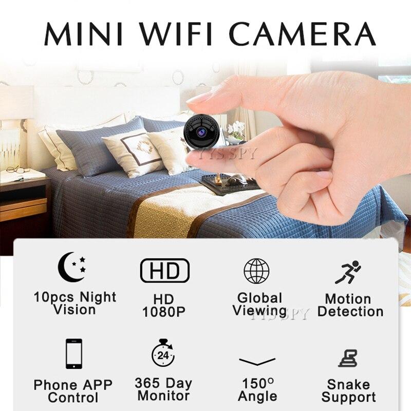 Wifi Mini caméra HD 1080P enregistreur Audio vidéo 10 pièces IR Vision nocturne capteur de mouvement Micro caméra caméscope Support caché TF carte