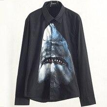 2020 Brand new high quality cotton Mens casual long sleeves Shirts Chic 3D print Shirt tops B912