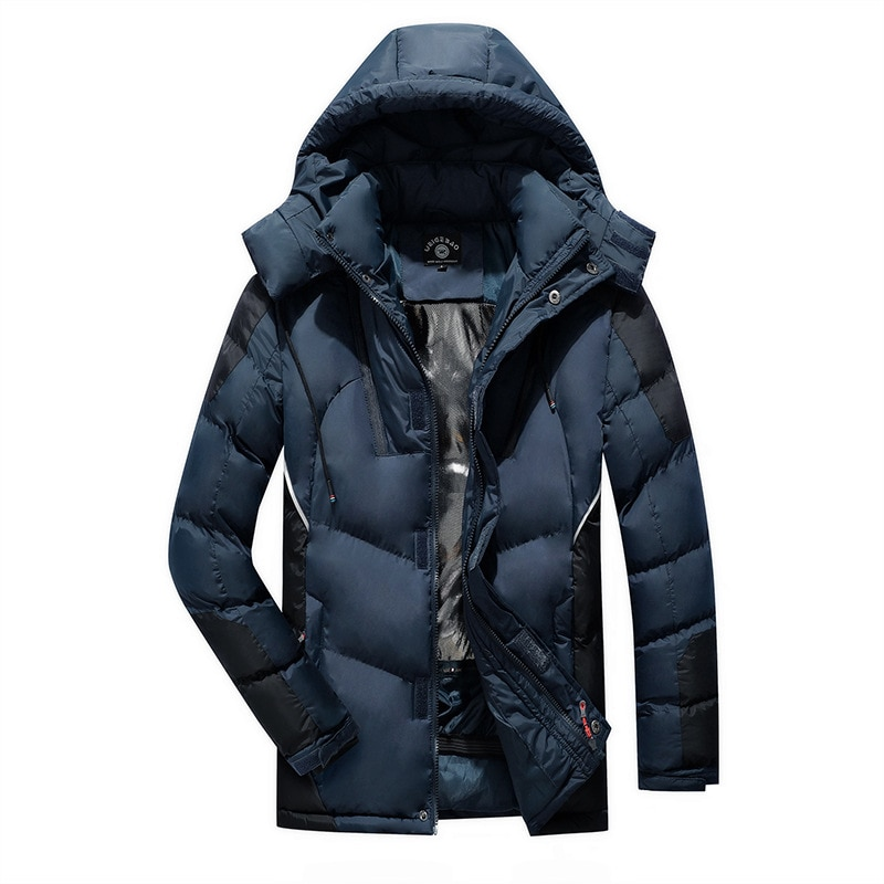 Winter Outdoor Hiking Down Cotton Jacket Men 202 New Patchwork Parkas Mens Windbreaker Jackets Male Thick Warm Hooded Coats