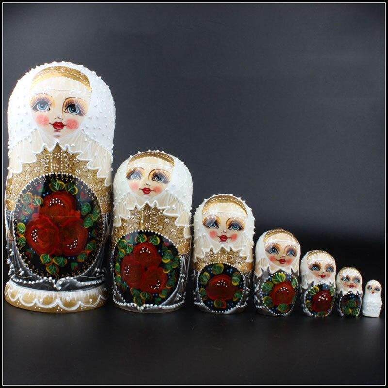 ¡Regalo de Navidad y de cumpleaños para chico! Exquisito Matrioshkas ruso tradicional Kawaii de 7 Uds., decoración para el hogar, artesanías