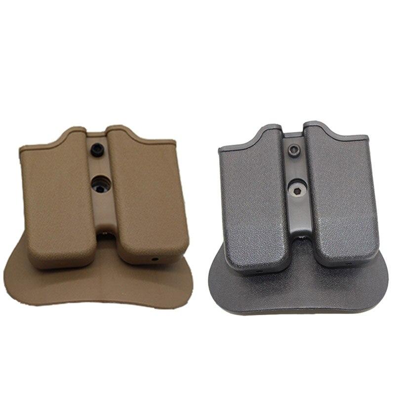 Тактический IMI двойной мешочек для журналов Glock 17 19 22 31 страйкбол двойной маг Чехол Полимерная Кобура аксессуары для охоты