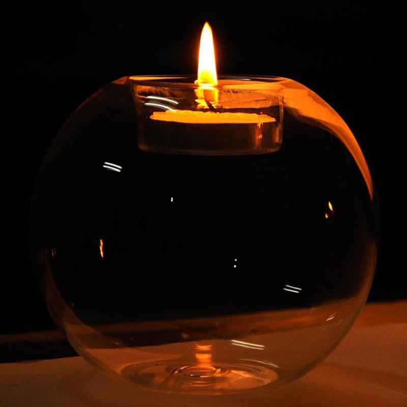 MeterMall 8 см круглый стеклянный подсвечник винтажный Хрустальный подсвечник вечерние свадебные украшения