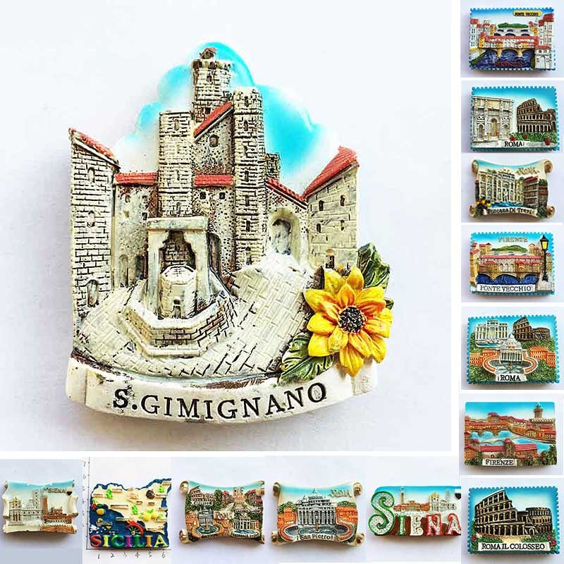 Italie Fridge Magnets Italy Rome Sicilia Siena Florence Colosseo Tourism Refrigerator Magnets Souvenir Home Kitchen Decoration south african tourism memorial tree leopard refrigerator