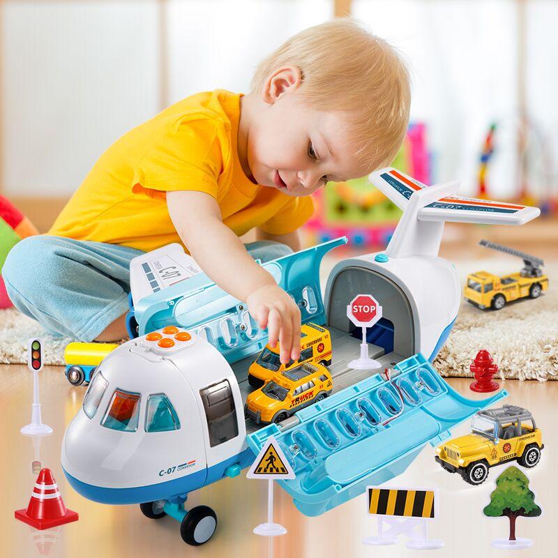 Распылитель тумана, детские игрушки, машинки для мальчиков с 6 литыми конструкторами, обучающие игрушки для детей 2-4 лет