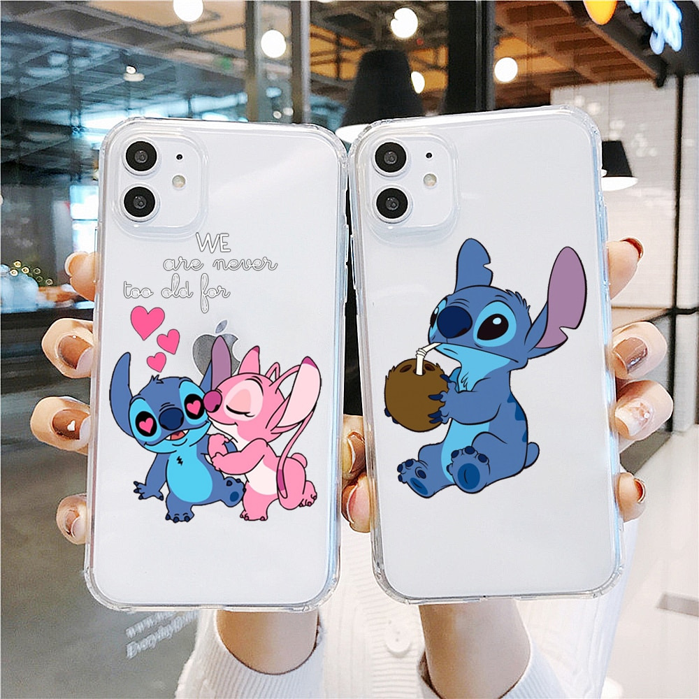 PUNQZY lindo Stitch cerdo Anime beso regalo teléfono caso para Samsung S10 S9 S8 Plus A50 A30 A70 S7 A9 2018 S20 S11 PLUS funda de TPU suave
