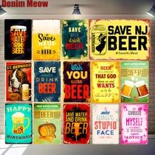 Autocollants muraux en métal   Plaque de bière, Vintage Pub Bar Club, décor de maison, fête de cour, autocollants aphorismes, signes métalliques en étain, MN142