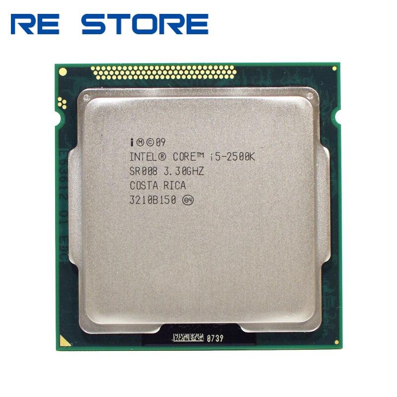Caché usado Intel i5 2500K Quad-Core 3,3 GHz LGA 1155 procesador TDP 95W 6MB con Gráficos HD i5-2500k CPU de escritorio