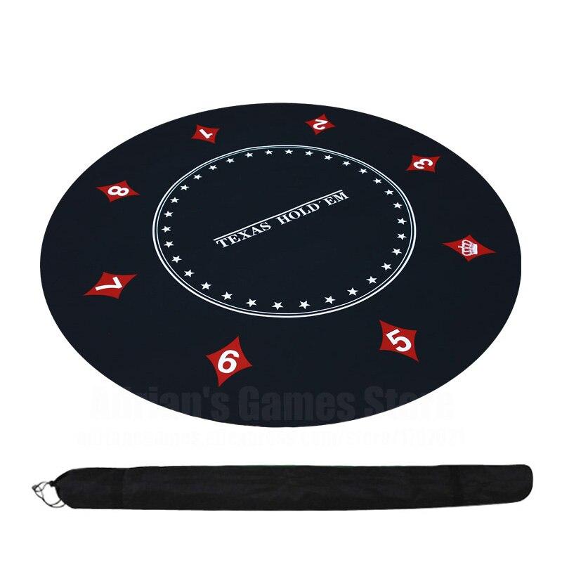Holdem em Layout de Poker Pano de Mesa de Borracha Esteira de Mesa Layouts de Pano de Jogo Texas Redonda Tabuleiro 120cm
