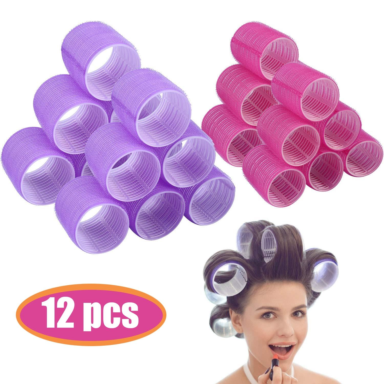 Hair Rollers 12Pcs/Pack Self Grip Hair Curlers Hair Roller Salon Hair Dressing Curlers Jumbo Size Ha